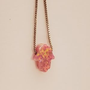 Jewelry - Pink fire opal necklace